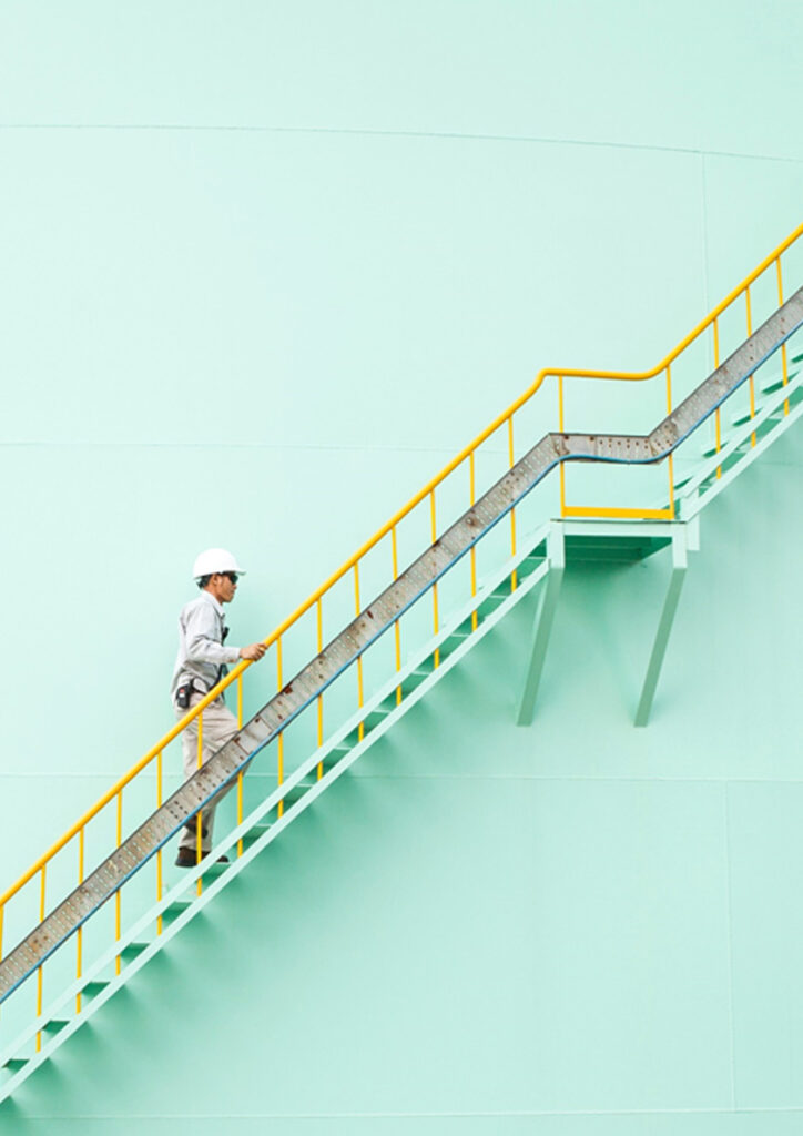 Man on stairs